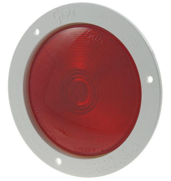 Grote 52692 Economy Stop Tail Turn Light, White Theft-Resistant Flange, Red