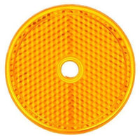 "Truck-Lite 52A 2"" Round, Yellow, Reflector, 1 Screw/Nail/Rivet"