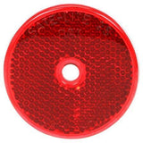 "Truck-Lite 52 2"" Round, Red, Reflector, 1 Screw/Nail/Rivet"