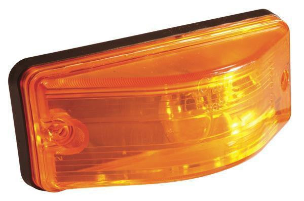 Grote 53853 OEM Style Side Turn Marker Light, Bulb Replaceable, Yellow