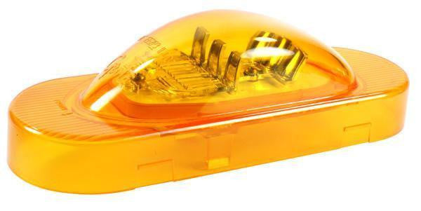 Grote 54193 SuperNova® Oval LED Side Turn Marker Light, Grommet Mount, Hard Shell, Yellow
