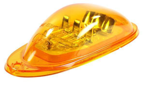 Grote 54233 SuperNova® Oval LED Side Turn Marker Light, Surface Mount, Hard Shell, Yellow