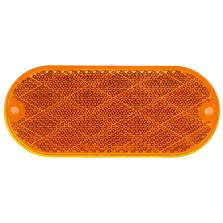 Truck-Lite 98001Y Oval, Yellow, Reflector, 2 Screw or Adhesive