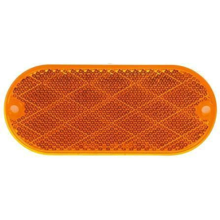 Truck-Lite 54A Oval, Yellow, Reflector, 2 Screw or Adhesive