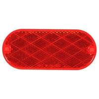 Truck-Lite 54 Oval, Red, Reflector, 2 Screw or Adhesive