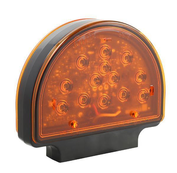 Grote 56150-5 LED Amber Pedestal Warning Light for Agriculture & Off-Highway