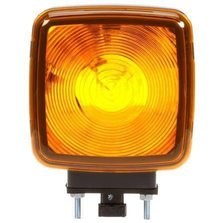 Truck-Lite 5800AA Dual Face, Vertical Mount, 5800 Series, Incan., Yellow, Pedestal Light