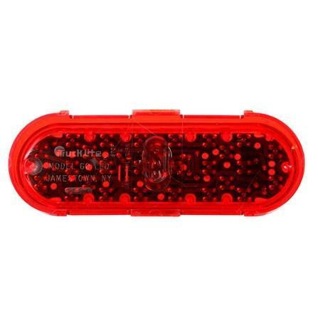 Truck-Lite 60253R 60 Series, LED, Red, Oval, 26 Diode, S/T/T, Fit 'N Forget S.S., 24V