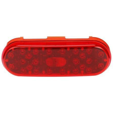 Truck-Lite 60264R 60 Series, LED, Red, Oval, 26 Diode, S/T/T, Diamond Shell, Fit 'N Forget S.S., 24V