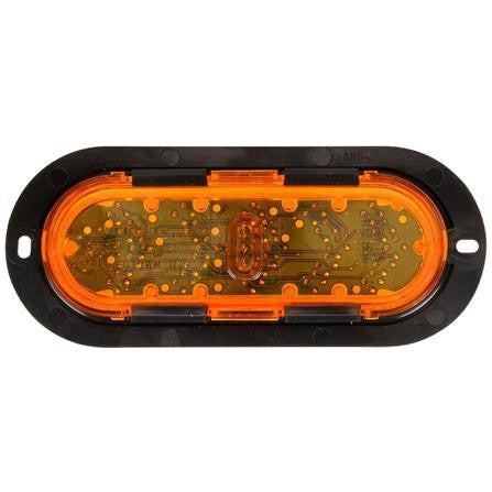 Truck-Lite 60286Y 60 Series LED Yellow Oval 25 Diode Sequential Arrow Aux Turn Signal Black Flange 12V
