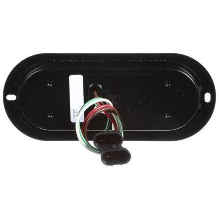 Truck-Lite 60559R 60 Series,LED Red Oval 8 Diode Stop/Turn/Tail, Black Flush Mount, Hardwired, Fit 'N Forget S.S., 12V, Stop/Turn/Tail & Back-Up, Truck-Lite