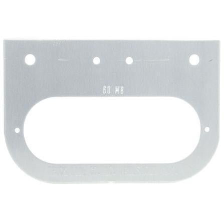Truck-Lite 60724 Bracket Mount, 60 Series Lights, Oval, Silver, 2 Screw Bracket Mount