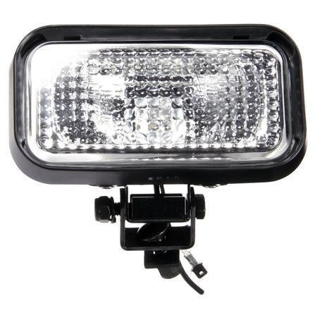 Truck-Lite 610W 4x6 in. Rectangular Halogen Work Light, Black, 1 Bulb, 1450 Lumen, Blunt Cut, 12V