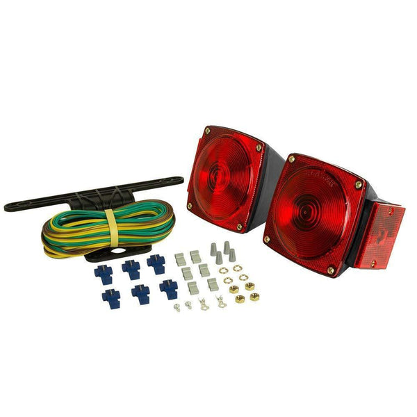 Blazer C6421 - RED Square Submersible Trailer Light Kit For Trailers Under 80 Wide - Levine Auto and Truck Lighting
