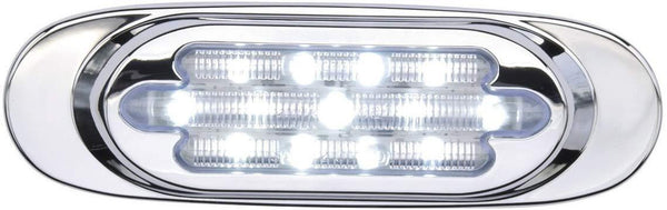 Maxxima M72270WCL White 13 LED Stainless Steel Oval Interior Courtesy Light