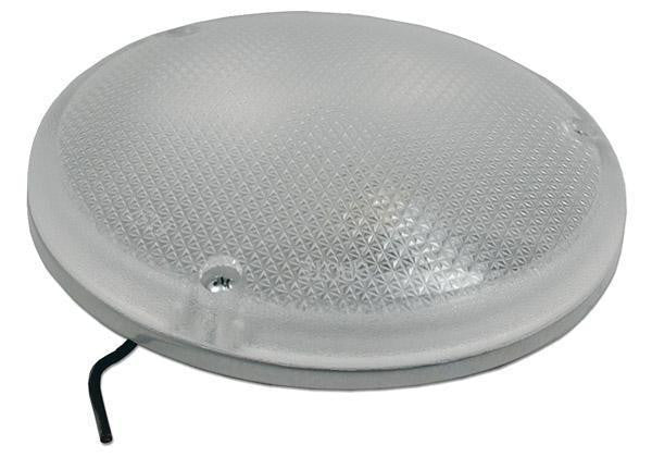 Grote 61571 Clear Steel Semi-Recessed Round Dome Lamp