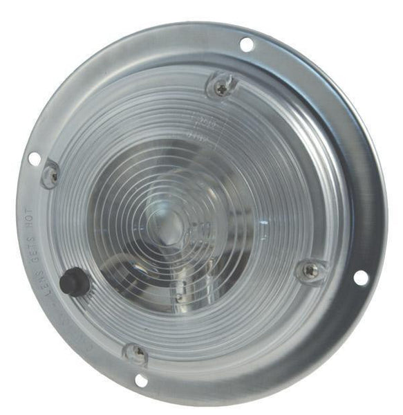 "Grote 61821 Clear 6"" Surface Mount Dome Light w/ Switch"
