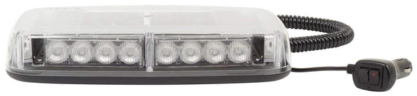 Blazer C4855CAW - Clear Lens and Amber LED MINI Warning Light Bar - Levine Auto and Truck Lighting