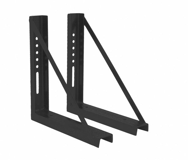 Buyers Products 1701010 Black 18x24 Inch Welded Structural Steel Mounting Brackets