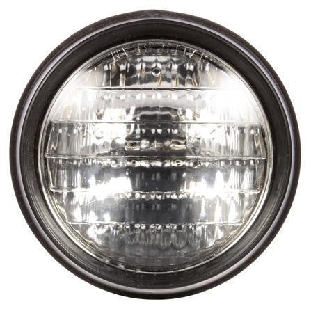 Truck-Lite 620W Par 36 5 in. Round Incandescent Work Light, Black, 1 Bulb, Blunt Cut, 12V