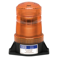 ECCO 6262A SAE CLASS III, Amber LED Beacon, 2 Bolt Mount - Levine Auto and Truck Lighting