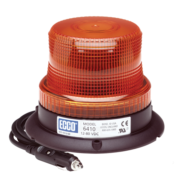ECCO 6410A-MG  Amber, Low Intensity, Rotating Strobe Beacon, Magnet Mount - Levine Auto and Truck Lighting