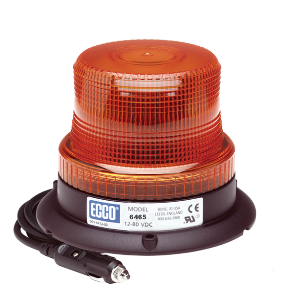 ECCO 6465A-MG SAE Class III LED, Amber Beacon Magnet Mount - Levine Auto and Truck Lighting