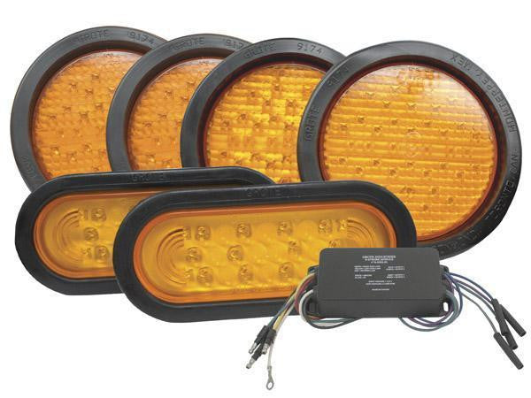 Grote 65130 Alternating X Pattern LED Strobe Lamp Kit- 6-Lamp System