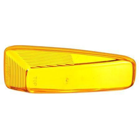 Truck-Lite 07021 Yellow, Triangular, Replacement Lens, Polycarbonate, Snap-Fit, Replacement Lens, Truck-Lite