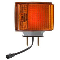 Truck-Lite 70353 Dual Face, RH, Incan., Red/Yellow Square, 2 Bulb, Chrome, 3 Wire, Pedestal Light