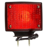 Truck-Lite 70356 Dual Face, LH, Incan., Red/Yellow Square, 2 Bulb, Black, 3 Wire, Pedestal Light