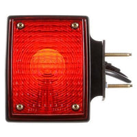 Truck-Lite 70357 Dual Face, RH, Incan., Red/Yellow Square, 2 Bulb, Black, 3 Wire, Pedestal Light