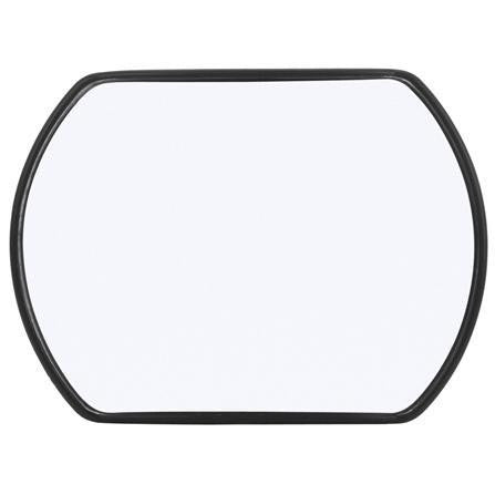 Truck-Lite 7048 Black 4 x 5 in Rectangular Plastic Stick-On Convex Truck Mirror