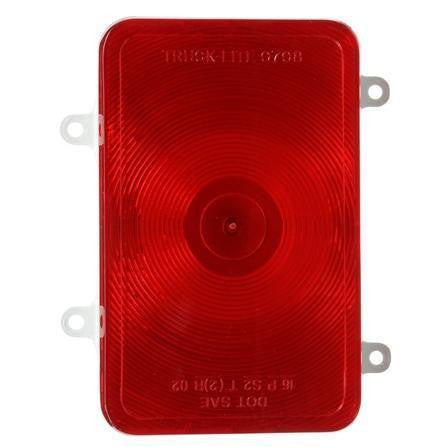 Truck-Lite 07092 Bus, Incan., Red, Rectangular, 1 Bulb, S/T/T, 4 Screw, Blade, 12V