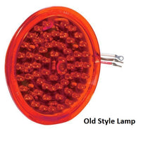 Betts 710007 Red LED Shallow Lens Insert w/ 3 Eyelets for 40,45,47 Series Valox Lamps