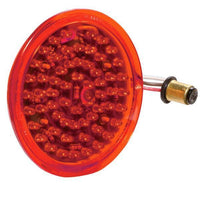 Betts 710009 Red, shallow LED lens insert with double contact bulb base, 12 volt - Levine Auto and Truck Lighting