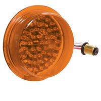 Betts 710020 Amber, deep LED lens insert with double contact bulb base, 24 volt