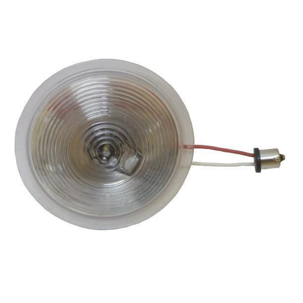 Betts 710028 Clear Single Diode LED Shallow Lens, Deep, Multi-volt, Single Contact Bulb Base
