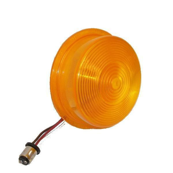 Betts 710036 Amber, deep Multi-voltage single diode double contact with bulb base