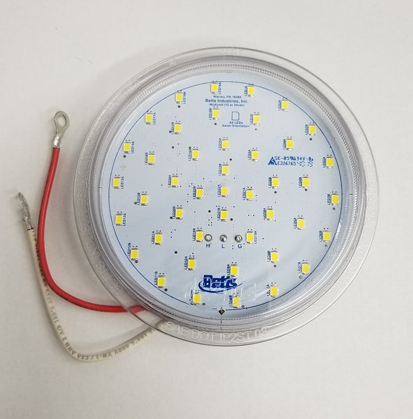 Betts 710044 Clear (60) Diode LED Dome Lens, Shallow, Multi-volt (2) Eyelets