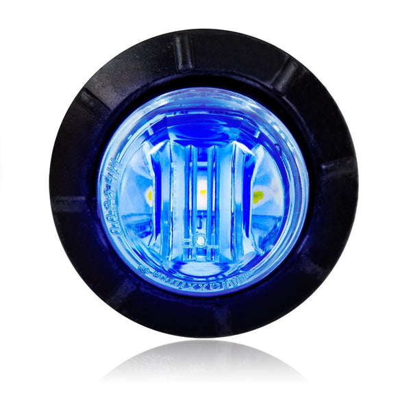 "Maxxima M09300BCL Blue 3 LED Clear Lens 3/4"" Round Auxiliary Lights"