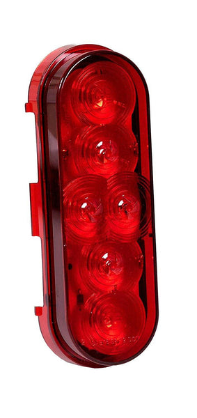 Maxxima M63346R Red 6 LED Oval Stop Turn Tail Light, PL-3