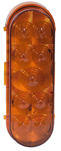 Maxxima M63339Y Amber 9 LED Oval Park Rear Turn Light