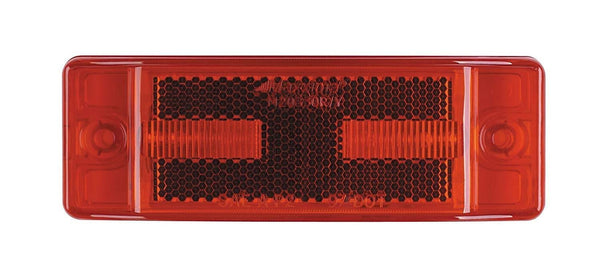 "Maxxima M20330R Red 2"" x 6"" LED Clearance Marker Light/Auxiliary Turn"