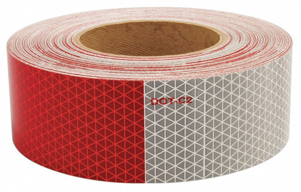 "Arrow A235-03-060 ORALITE® V92 Prismatic Conspicuity Tape, 7"" White / 11"" Red, 150' x 2"""