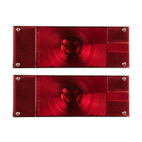 Blazer C6285 - RED Low Profile Submersible Rectangular Trailer Light Kit - Levine Auto and Truck Lighting