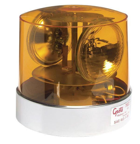 Grote 76223 Yellow Two Sealed-Beam Roto-Beacon