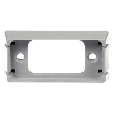 Truck-Lite 00790 Gray Bracket Mount for 15 Series Lights, Rectangular 2 Screw Mount