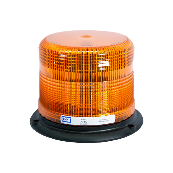 "ECCO 7945A Pulse II, SAE Class II, Amber Beacon, 3 Bolt, 1"" Pipe Mount - Levine Auto and Truck Lighting"