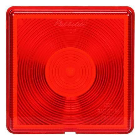 Truck-Lite 8006 Square, Red, Acrylic, Replacement Lens, Snap-Fit